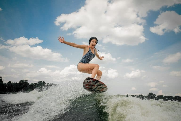 Woman Wakesurfing