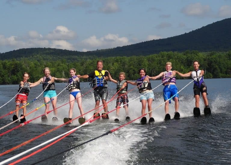 family, sports, waterskiing